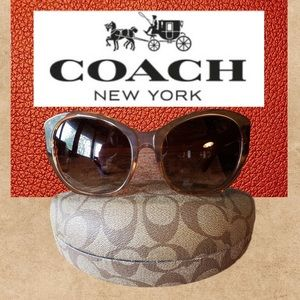 NEW COACH Crystal sunglasses/case